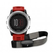 010-01338-17 Garmin fēnix 3 Silver Red Band HRM