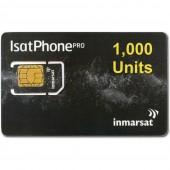IN-01-GSPS1000E IsatPhone PRO SIM CARD with PrePaid Airtime 1000 Unit Prepaid VOUCHER of 365 day validity