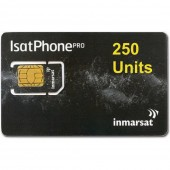 IN-01-GSPS250E IsatPhone PRO SIM CARD with PrePaid Airtime 250 Unit Prepaid VOUCHER of 180 day validity