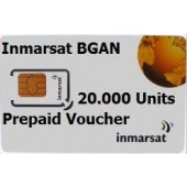 IN-01-BGAN-20000E BGAN 20,000 Unit e-voucher, 1yr Validity to use, extends access for a further 2yrs